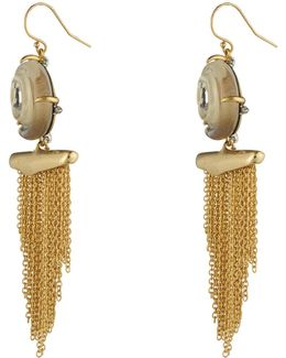 Crystal Studded Shell Tassel Wire Earring You Might Also Like