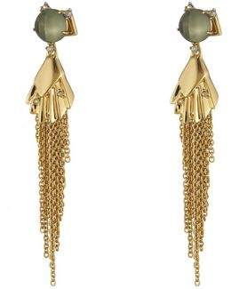 Crystal Studded Dangling Tassel Post Earring You Might Also Like