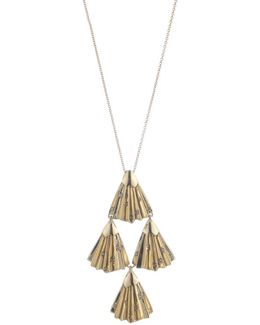 Crystal Studded Pleated Pendant Necklace You Might Also Like