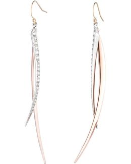 Two-tone Crystal Encrusted Spear Wire Earring You Might Also Like