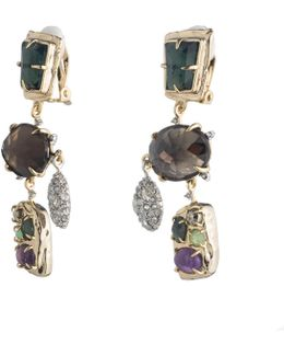 Multi Stone Rocky Chandelier Clip Earring You Might Also Like