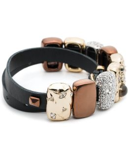 Leather Choker/wrap Bracelet With Charms You Might Also Like