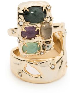 Stone Slab Double Banded Cocktail Ring You Might Also Like