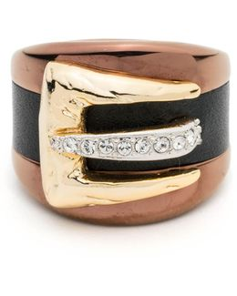 Buckle Ring With Leather Accent You Might Also Like