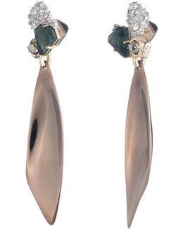 Stone Cluster Post With Scooped Drop Earring You Might Also Like