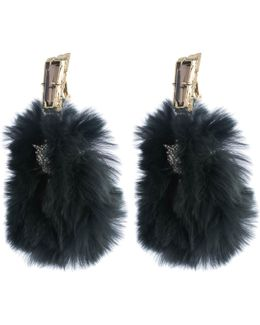 Crystal Panther Clip Earring With Fur Detail You Might Also Like