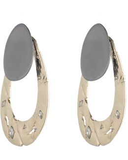 Disk Post And Rocky Metal Loop Jacket Earring You Might Also Like