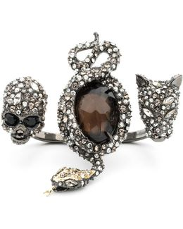 Crystal Skull, Snake And Panther Ring You Might Also Like