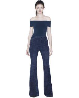 Ashlena Off Shoulder Thong Boddysuit