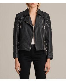 Ainsdale Leather Biker Jacket