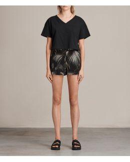 Emen Neluwa Palm Silk Shorts