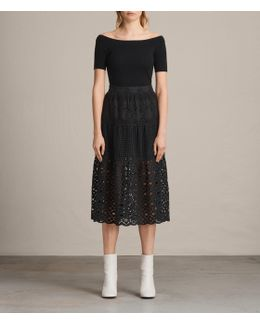Janey Tier Broderie Skirt