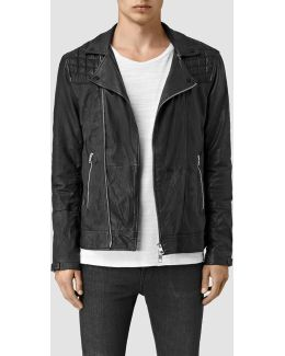 Kushiro Leather Biker Jacket