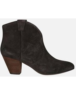 Women's Jalouse Calf Suede Heeled Ankle Boots