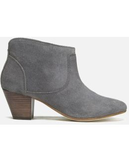 Kiver Suede Heeled Ankle Boots
