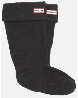 Unisex Tall Fleece Welly Socks