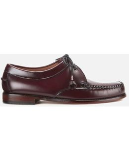 Men's Lace Up Leather Loafers