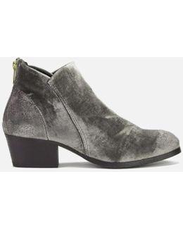 Women's Apisi Velvet Heeled Ankle Boots