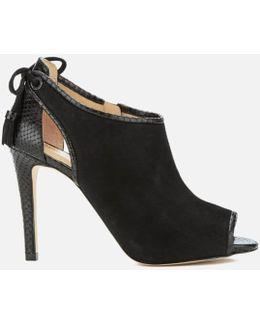 Women's Jennings Leather Peep Toe Heeled Boots