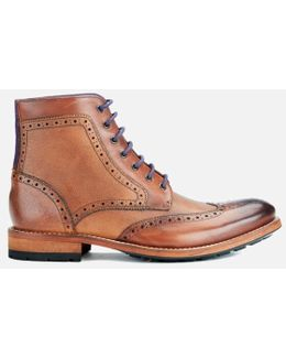 Men's Sealls3 Leather Brogue Lace Up Boots