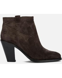 Women's Ivana Suede Heeled Ankle Boots
