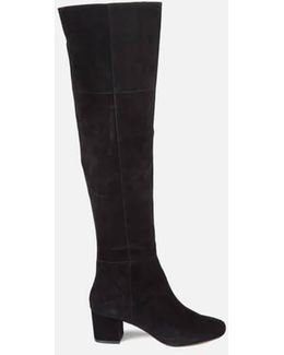 Sanford Suede Thigh High Heeled Boots