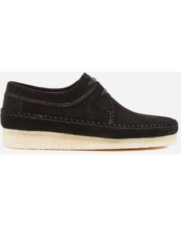 Black Weaver Suede Sneakers