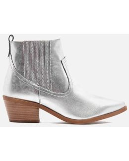 Quiz Leather Heeled Chelsea Boots