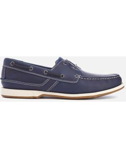 Fulmen Row Leather Boat Shoes