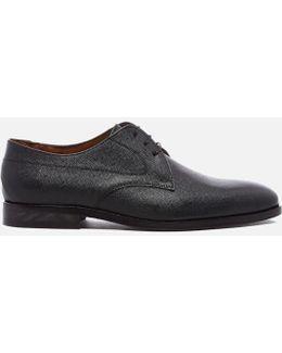 Men's Leo Leather Plain Derby Shoes