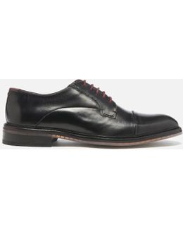 Men's Aokii Burnished Leather Toe Cap Derby Shoes