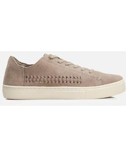 Lenox Suede Woven Panel Trainers