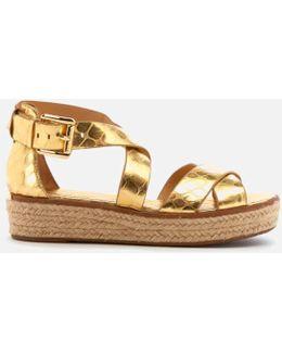 Women's Darby Leather Flatform Sandals