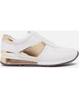 Women's Allie Plate Wrap Leather Trainers