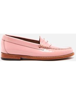 Women's Penny Wheel Patent Leather Loafers