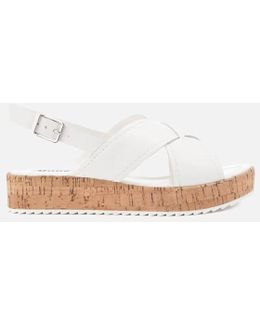 Women's Kriss Leather Flatform Sandals