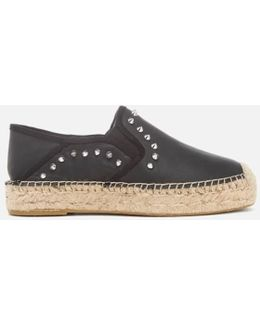 Women's Xiao Leather Studded Espadrilles