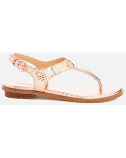 Women's Mk Plate Toe Post Sandals