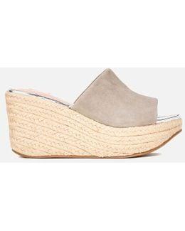 Women's Kell Suede Espadrille Mule Flatform Sandals