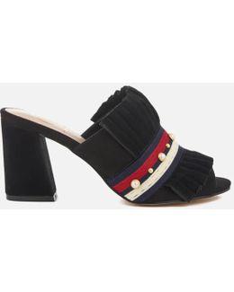 Mistres Suede Heeled Mule Sandals