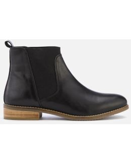 Women's Quote Leather Chelsea Boots