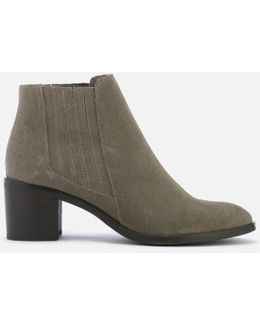 Women's Peter Suede Heeled Ankle Boots