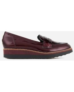 Women's Graphic Patent Leather Loafers