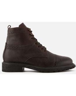Men's Fernie Leather Brogue Lace Up Boots
