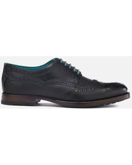 Men's Senape Leather Wingtip Brogues