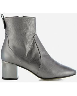 Strudel Leather Heeled Ankle Boots
