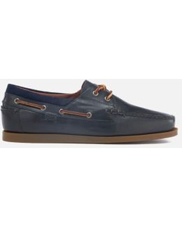Men's Dayne Smooth Oil Leather Boat Shoes