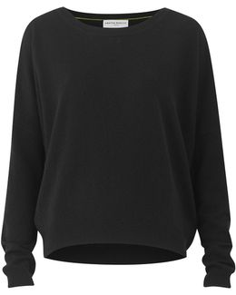 Chung Black Cashmere Crew Neck Top
