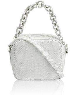 Jackson Silver Python Pochette Bag