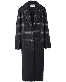 Ishi Black Jacquard Coat